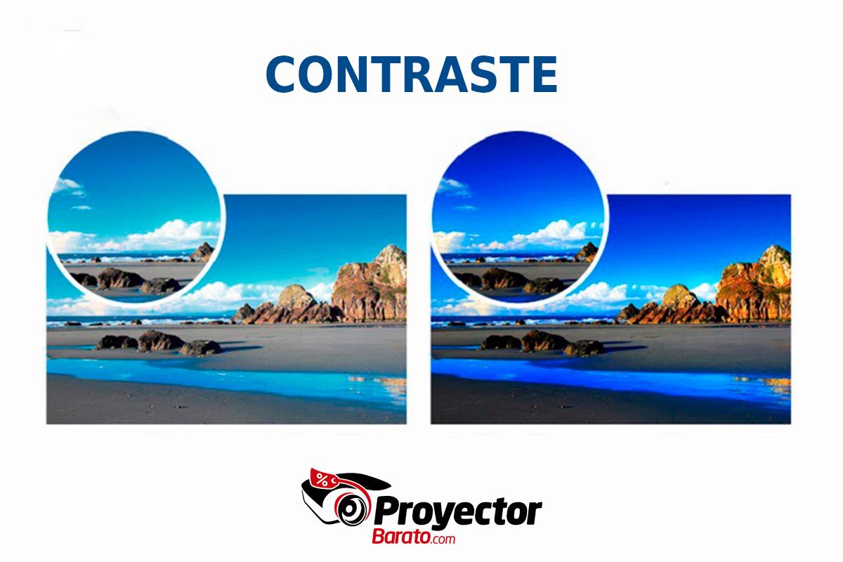 ¿Qué es el contraste en un proyector?