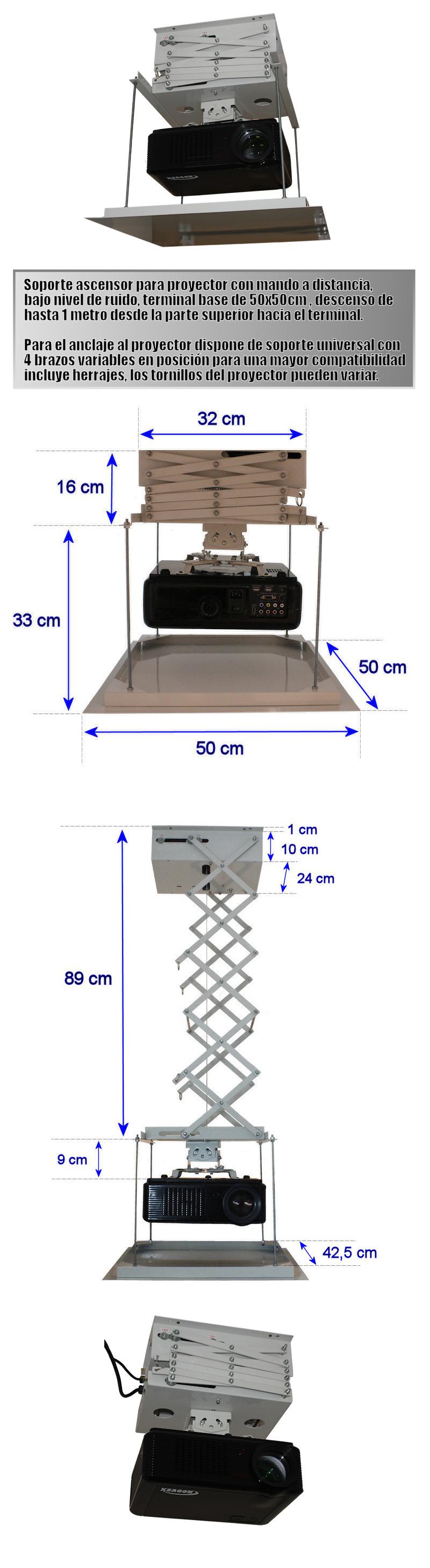 soporte de ascensor para proyector