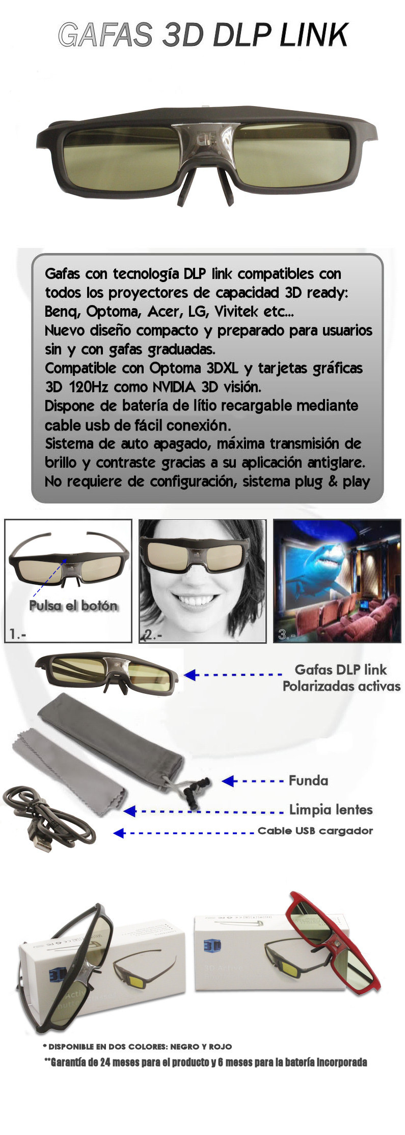 Gafas 3D polarizadas