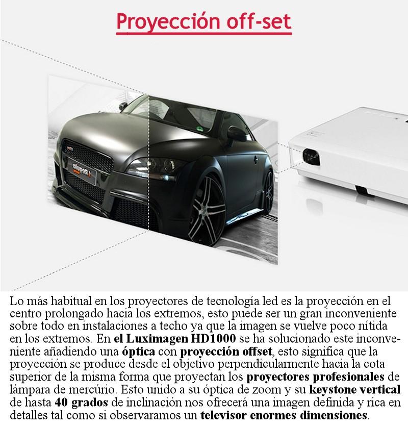 Si busca el mejor proyector de led con capacidad fullhd el luximagen HD1000 es la mejor opcion