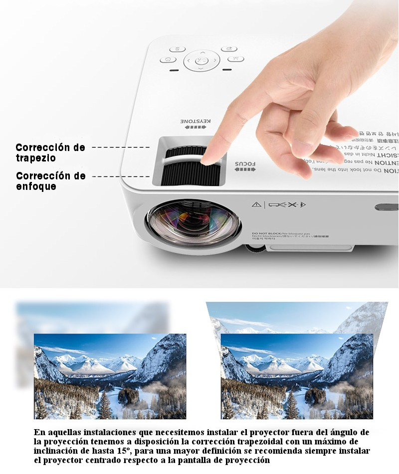 Mas pequeño y versatil, el SV90 es un proyector de tecnologia LCD y LED de tamaño portatil