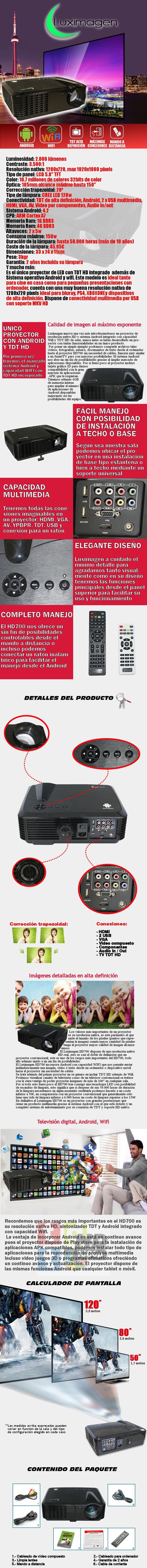 proyector con tdt luximagen hd700