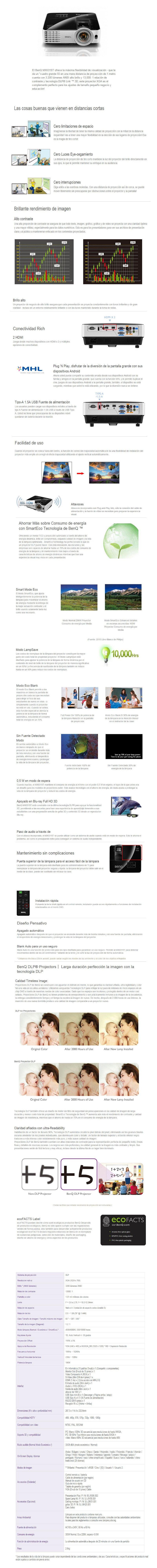 proyector benq mx631st