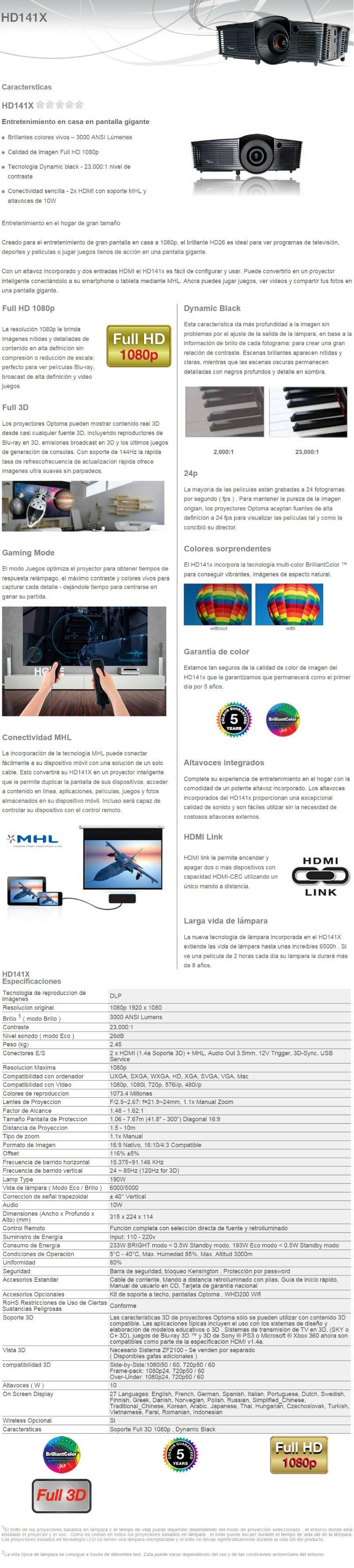 proyector optoma hd141x