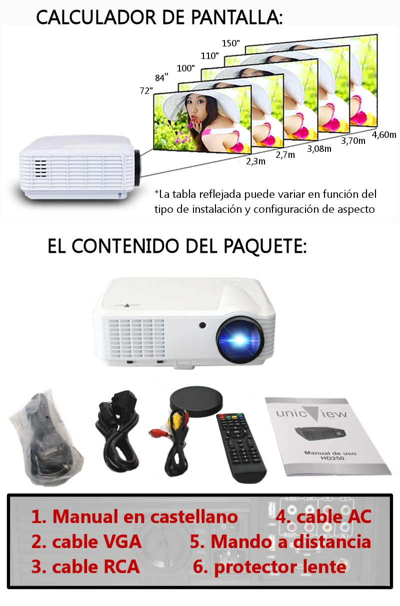 el proyector es compatible con ps4, xboxone, wiiu y dispositivos de alta definicion bluray, pc, satélite etc...