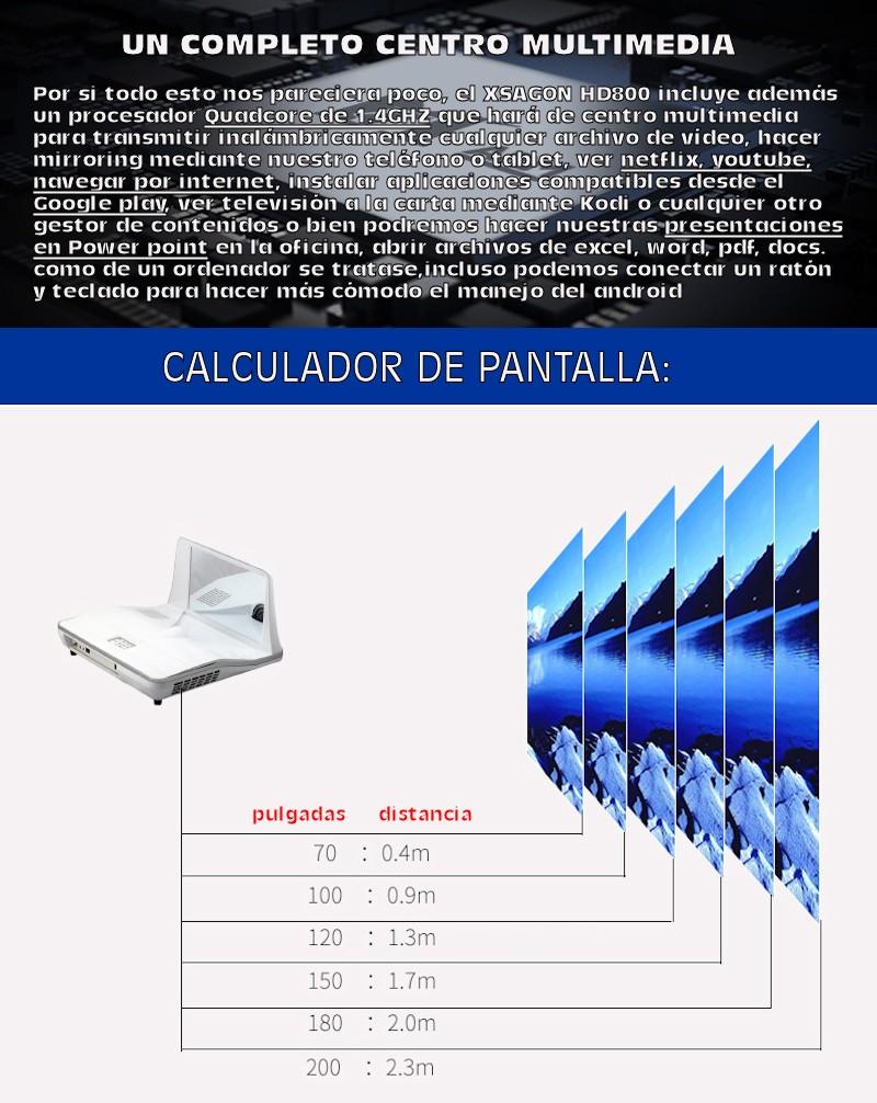 el Xsagon HD800 es el proyector más completo de la gama de equipos de led