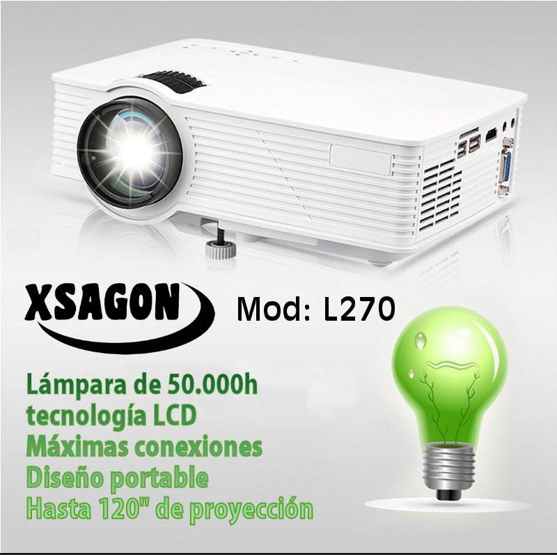 luminosidad 1.500 lumenes, contraste 1000:1, resolucion maxima 1080p, conexiones, hdmi, vga, usb, sd, audio, formato de pantalla panoramico, lampara de led de 50.000 horas, optica varifocus