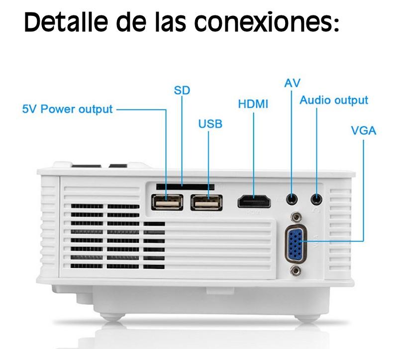 No es preciso grandes alardes de experiencia, este videoproyector l270 se puede manejar facilmente desde el mando a distancia