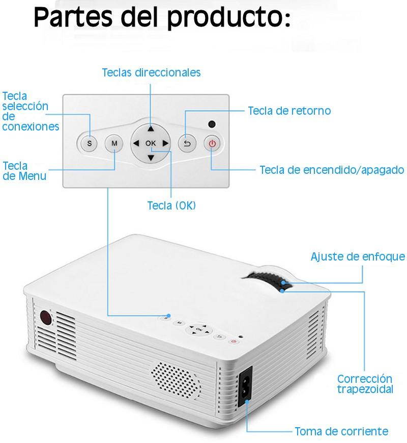 Gracias a sus reducidas dimensiones podremos llevarlo a cualquier parte se trata de un proyector de tamaño portatil
