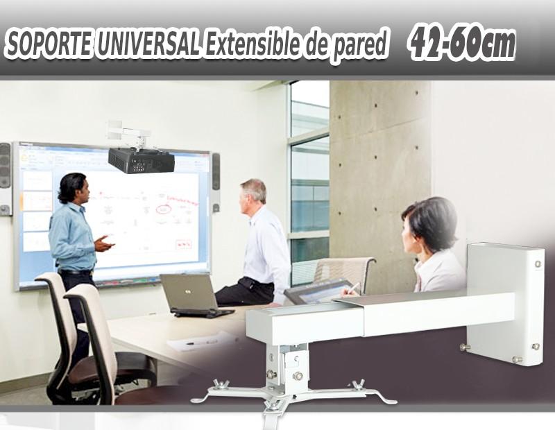 soporte extensible de pared para proyector de 42cm hasta 60cm