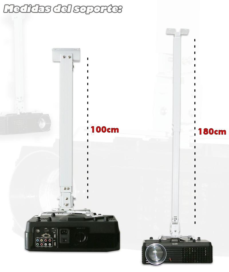 Medidas del soporte universal de techo para proyector de 100cm hasta 180cm