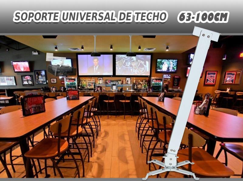 soporte universal de techo para proyector de 63cm hasta 1 metro