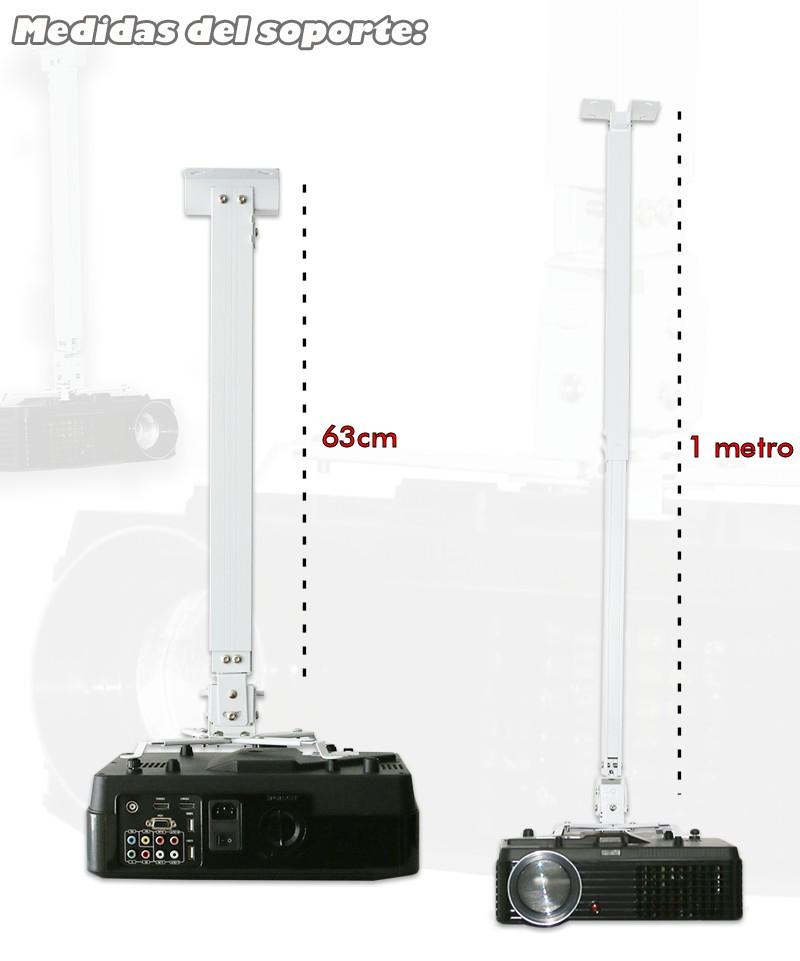 Las medidas del soporte universal para proyector son de 63cm a 1 metro