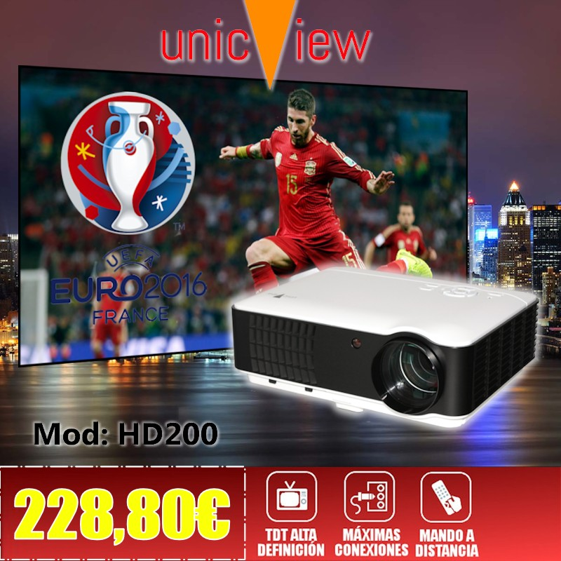 proyector con tdt unicview hd200