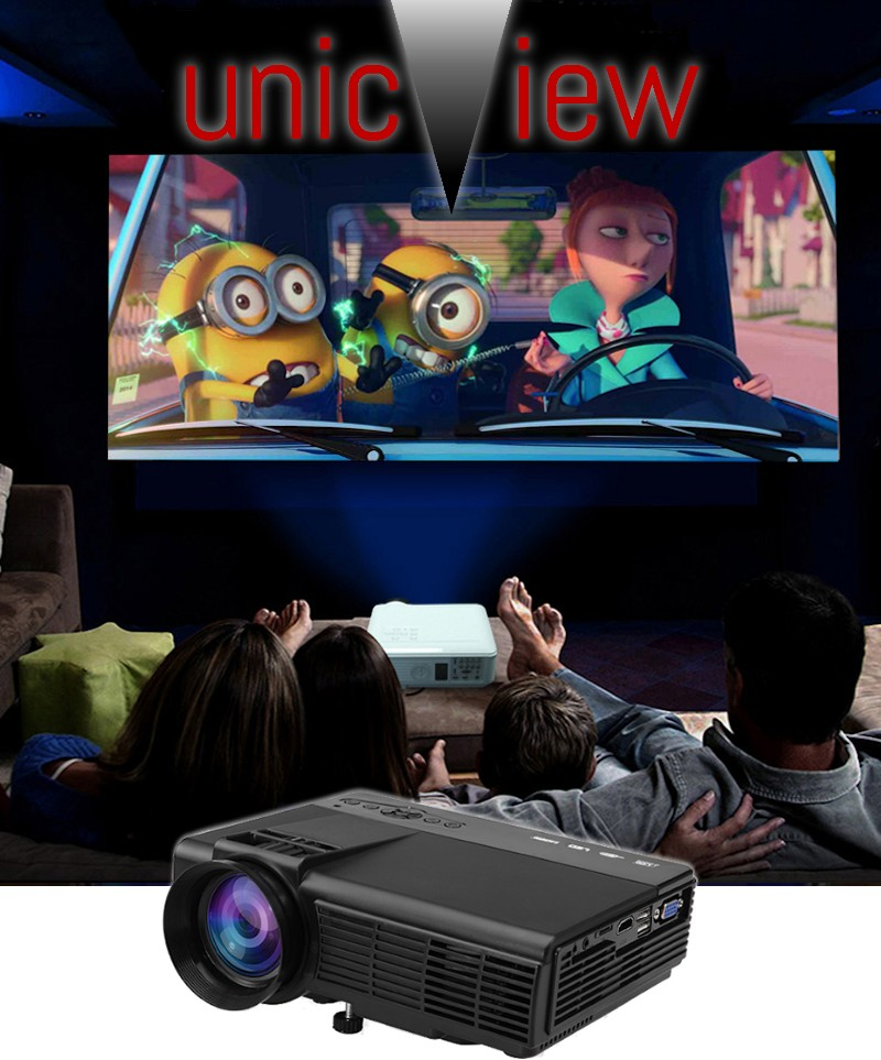 magnifico mini proyector de led con android y wifi integrado modelo unicview sg150