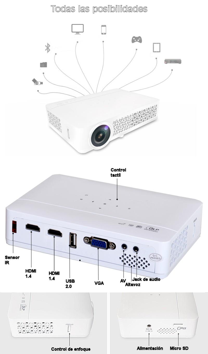 tiene todas las conexiones disponibles: HDMI 1.4, usb 2.0, vga, av, altavoz y jack de audio