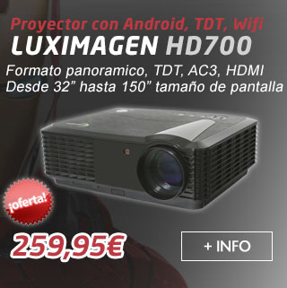 proyector con tdt, android, wifi, Luximagen HD700