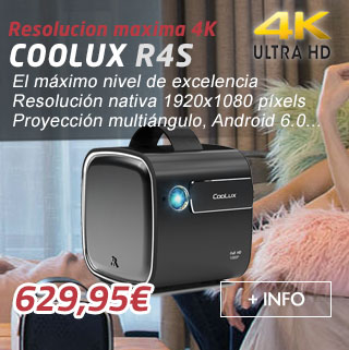 proyector coolux r4s fullhd, soporte 4k, android 6.0