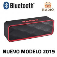 Bluetooth Speaker Unicview SC-211 Red Stereo with Wireless Radio