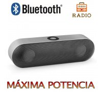 Altavoz Bluetooth 6W,Unicview NBY-18 Plata Estéreo Altavoces Ina