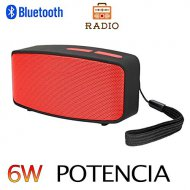 Altavoz Bluetooth 6W,Unicview N10 Rojo
