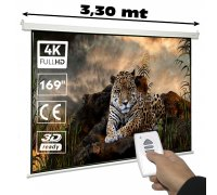 "Electric projector screen 169"" 1:1"
