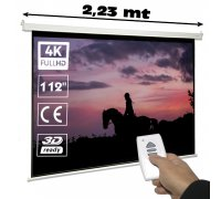 Electric projector screen 112""