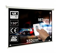 "Electric projector screen 150"" 16:9 (332x187cm)"