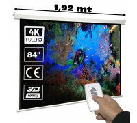 Electric projector screen 72""