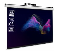 "Manual projection screen 169"" (3 x 3 meters)"