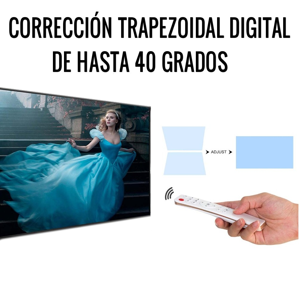 correccion trapezoidal digital de hasta 40 grados