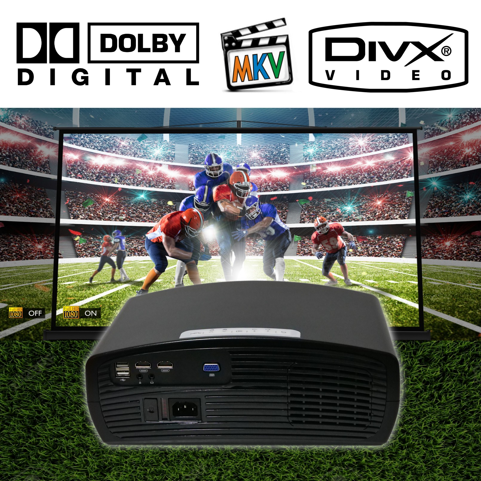 Luximagen FUHD200 incluye AC3 dolby digital y mkv avi mpeg bluray