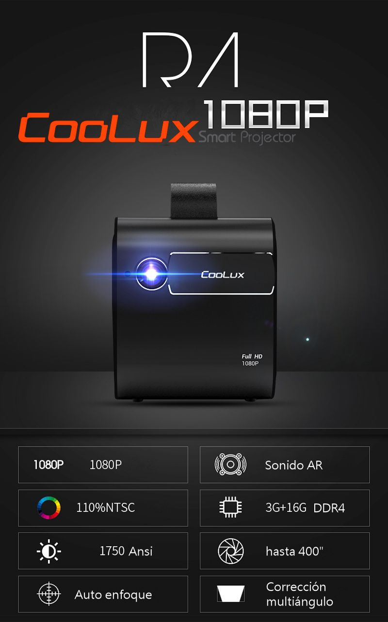 proyector coolux r4s resolucion nativa 4k