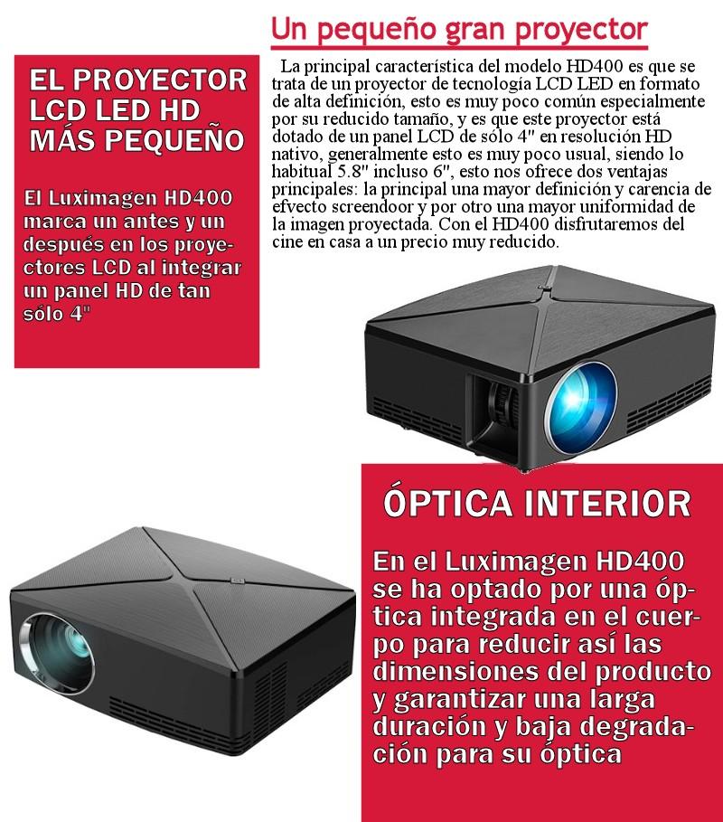 El proyector LCD led de alta definición más pequeño del mercado